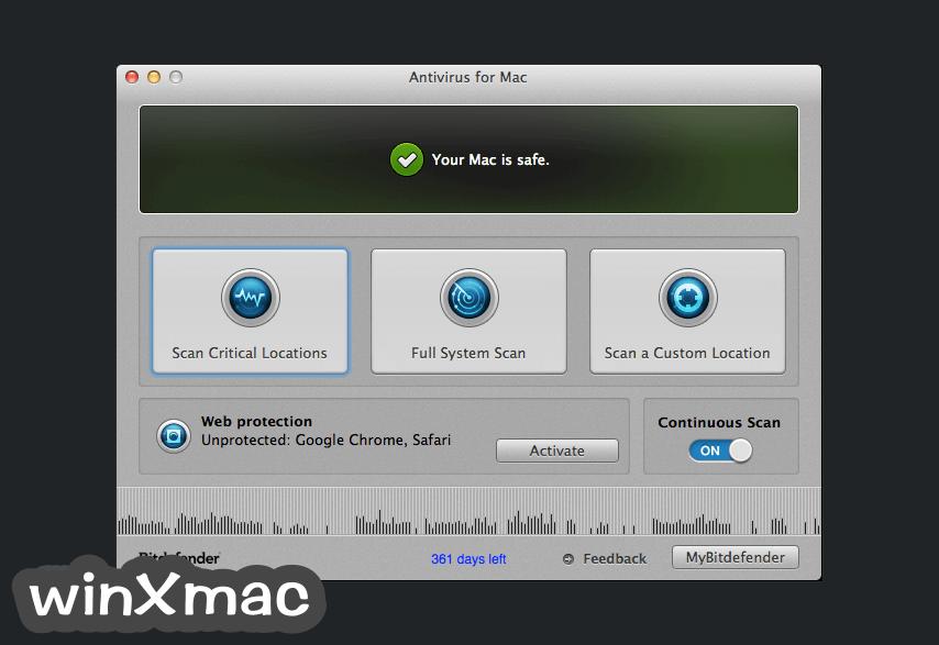 BitDefender Antivirus for Mac Screenshot 1