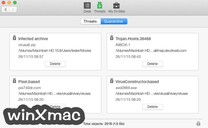 Dr.Web Anti-virus for Mac Screenshot 3