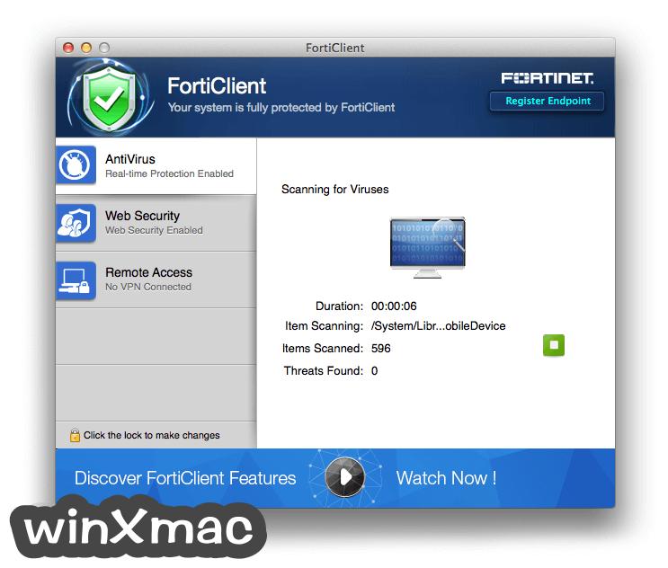 FortiClient for Mac Screenshot 2