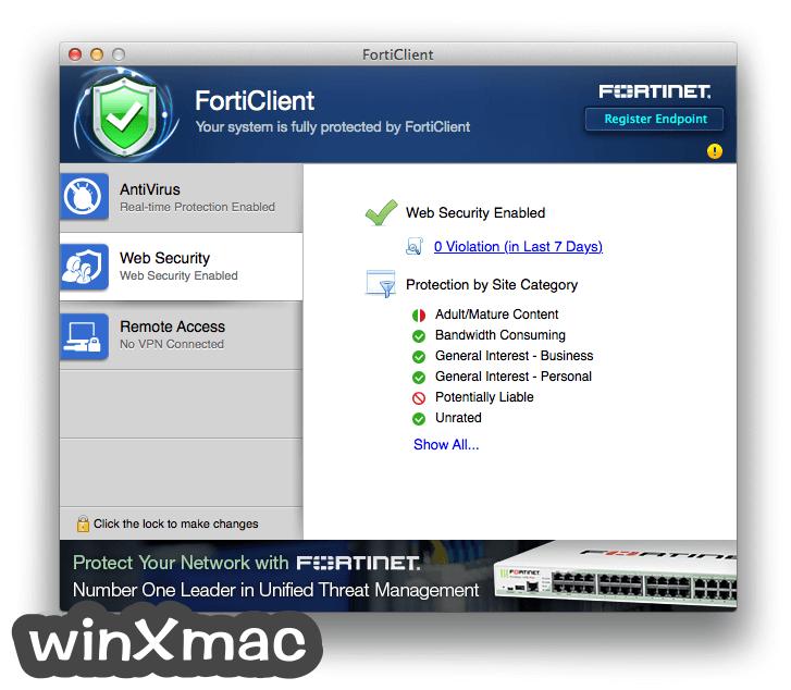 FortiClient for Mac Screenshot 3