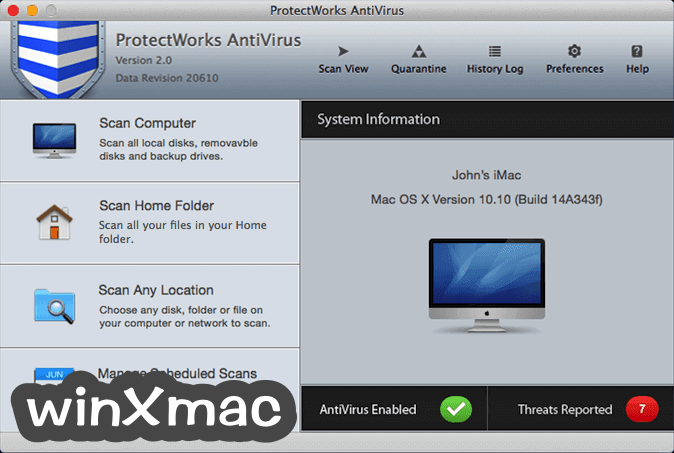 ProtectWorks AntiVirus for Mac Screenshot 1