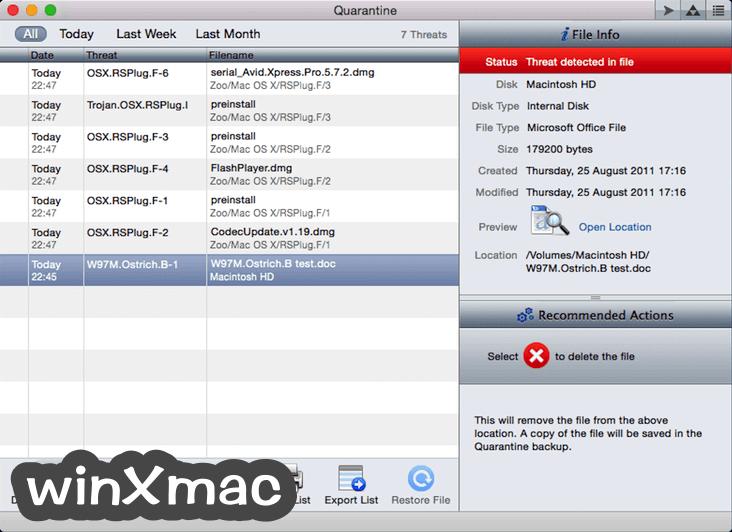 ProtectWorks AntiVirus for Mac Screenshot 3