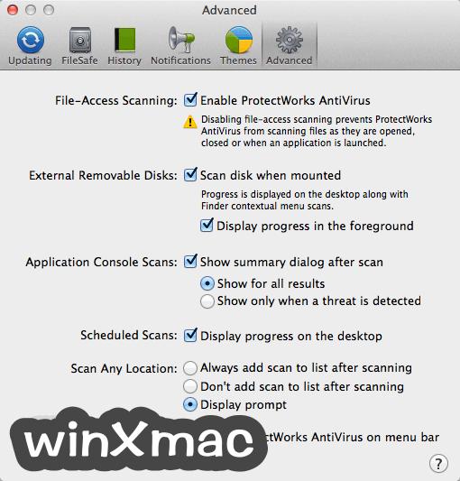 ProtectWorks AntiVirus for Mac Screenshot 5