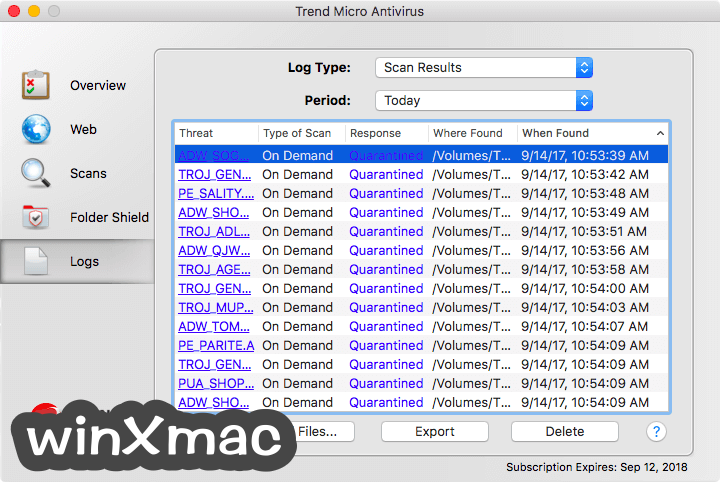 Trend Micro Antivirus for Mac Screenshot 3