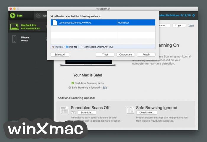 VirusBarrier for Mac Screenshot 5