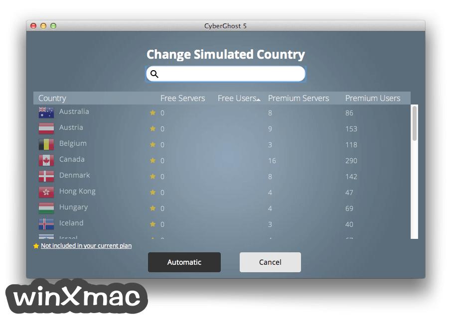 CyberGhost VPN for Mac Screenshot 2