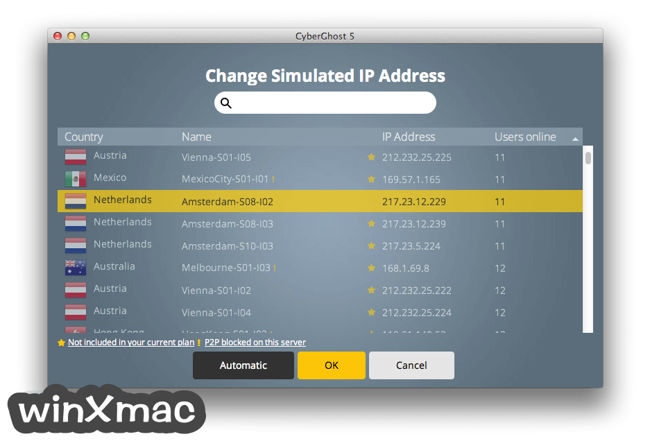 CyberGhost VPN for Mac Screenshot 3