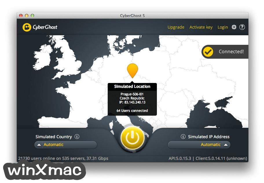 CyberGhost VPN for Mac Screenshot 4