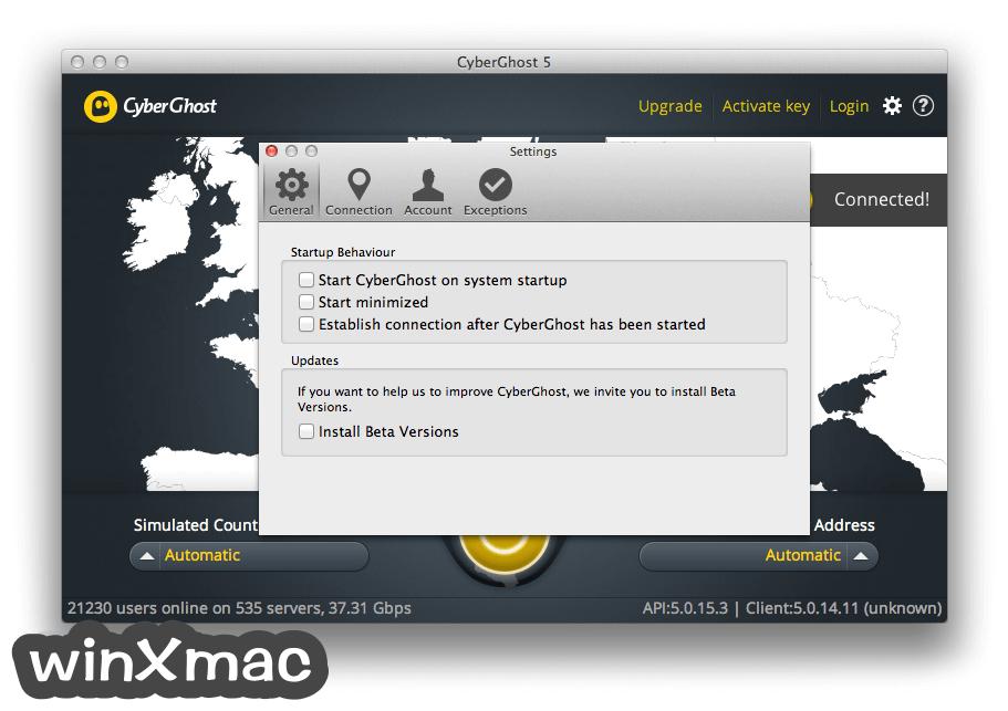 CyberGhost VPN for Mac Screenshot 5