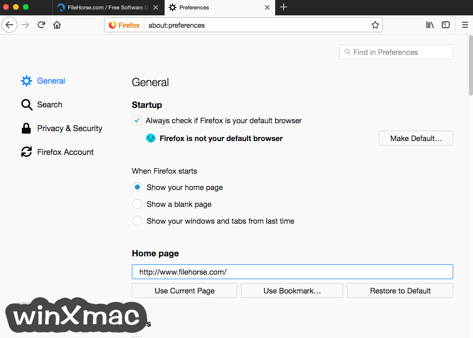 Firefox for Mac Screenshot 5