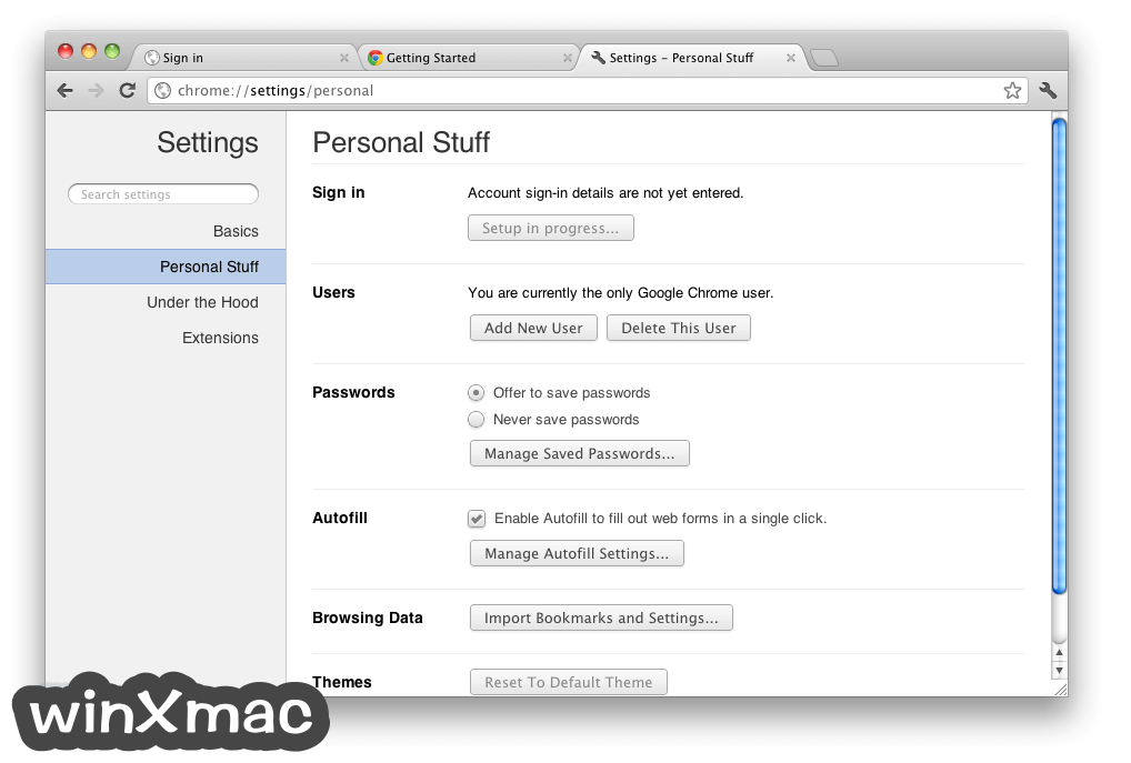 Google Chrome for Mac Screenshot 2