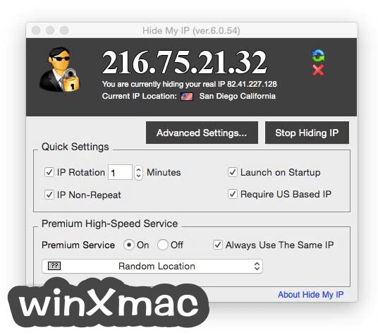 Hide My IP for Mac Screenshot 1