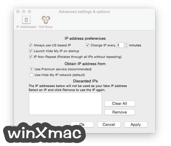 Hide My IP for Mac Screenshot 2