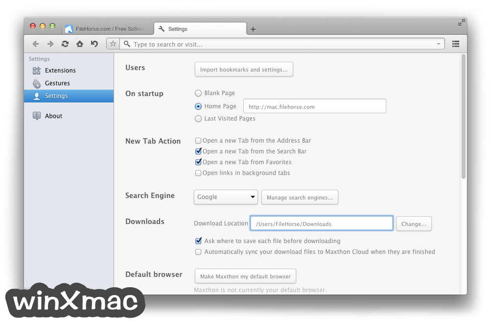Maxthon for Mac Screenshot 3