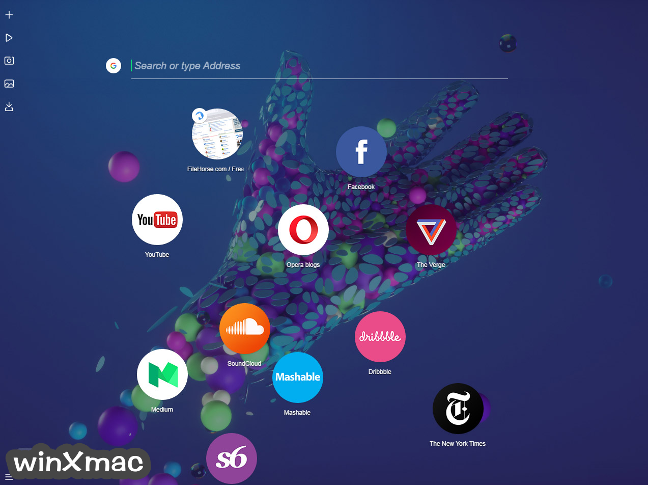 Opera Neon for Mac Screenshot 1