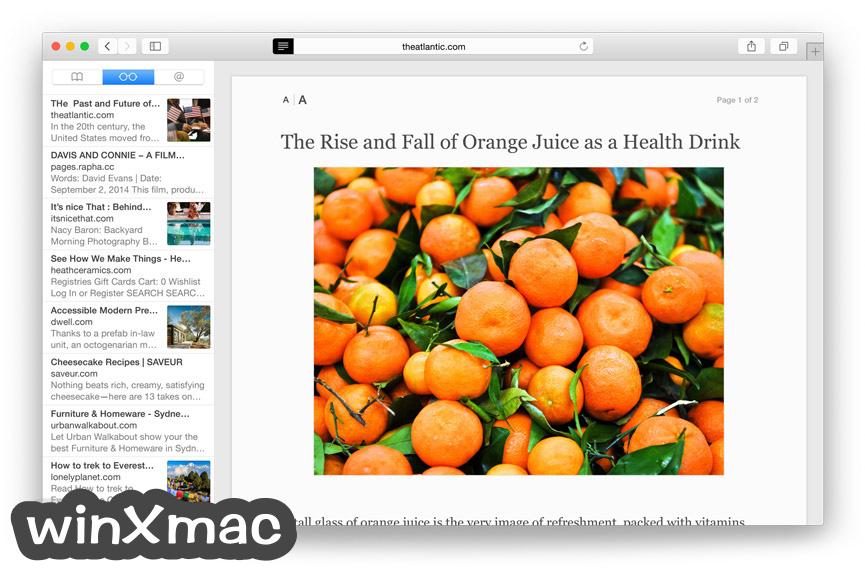 Safari for Mac Screenshot 1
