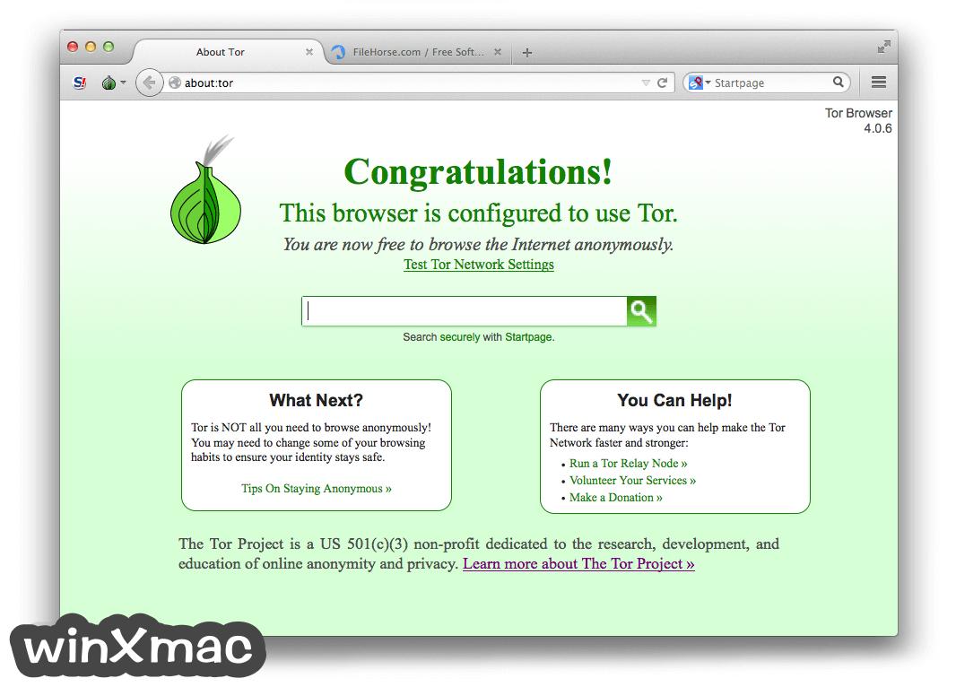 Tor Browser for Mac Screenshot 1