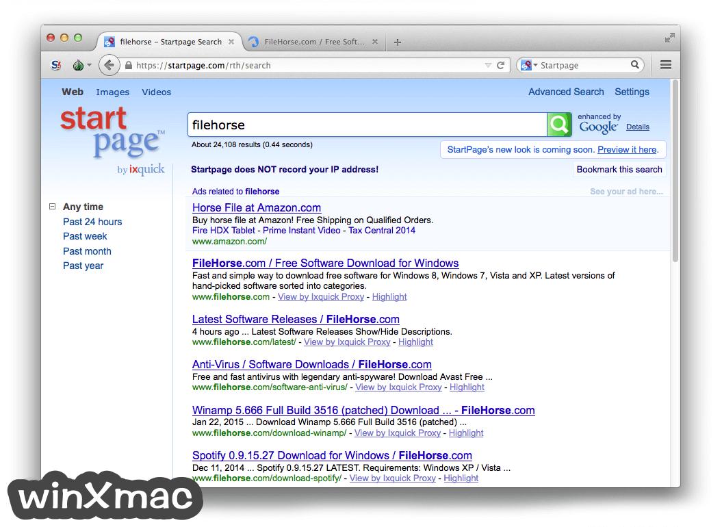 Tor Browser for Mac Screenshot 2