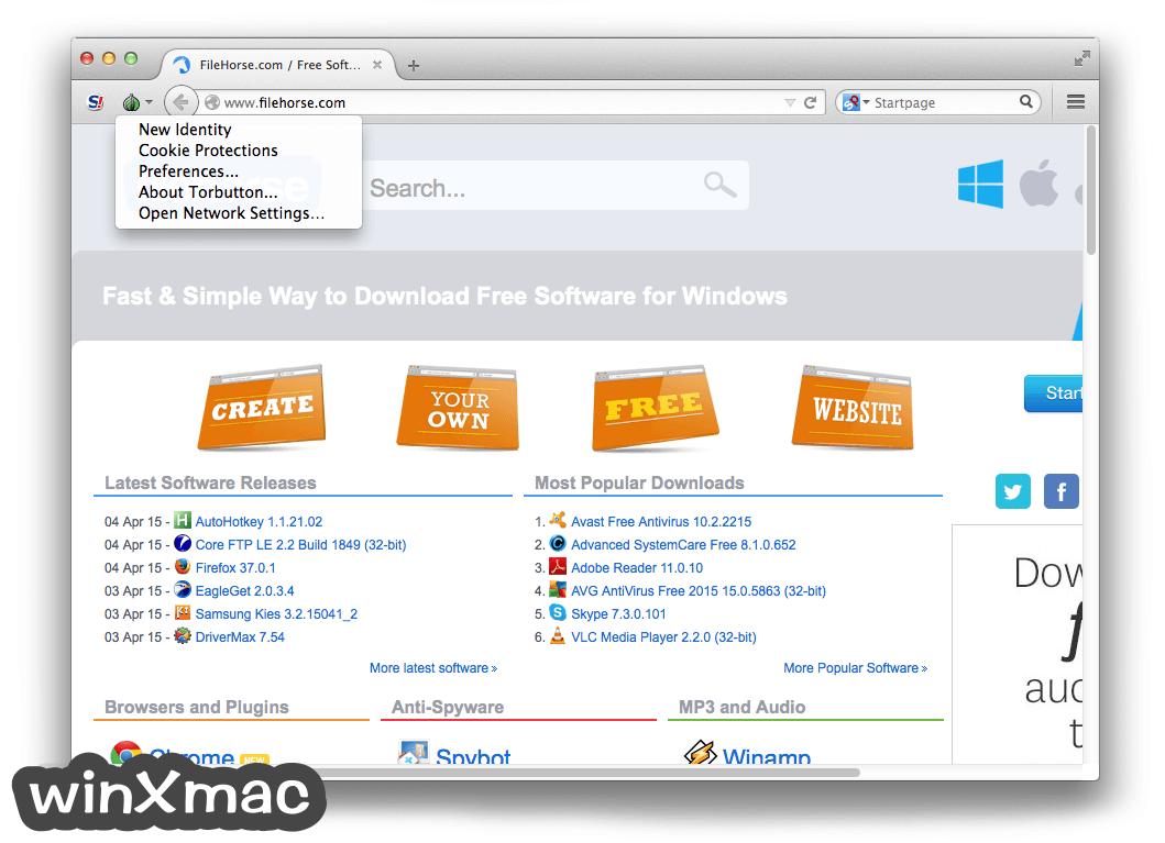 Tor Browser for Mac Screenshot 3