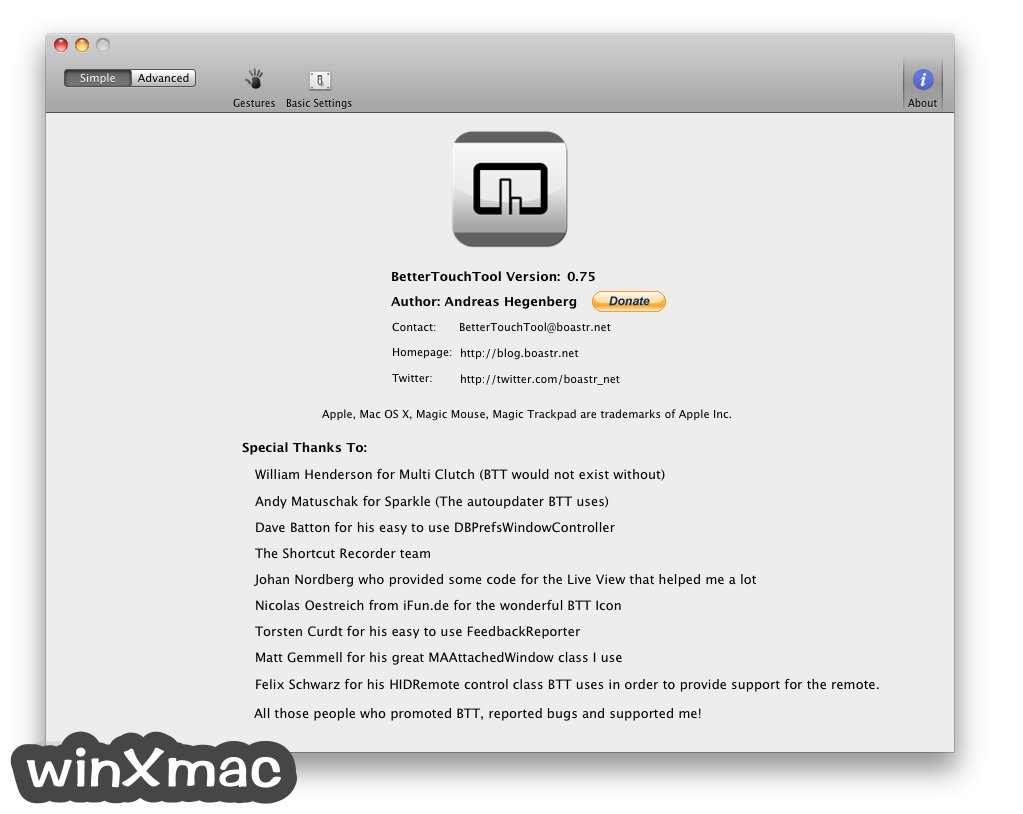 BetterTouchTool for Mac Screenshot 3