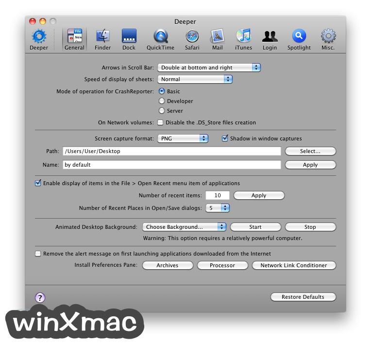 Deeper for Mac Screenshot 1