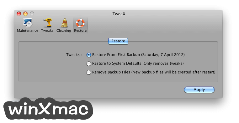 iTweaX for Mac Screenshot 4