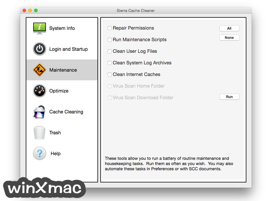 Sierra Cache Cleaner for Mac Screenshot 2