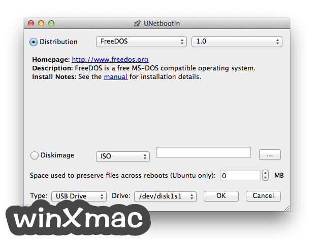 UNetbootin for Mac Screenshot 1