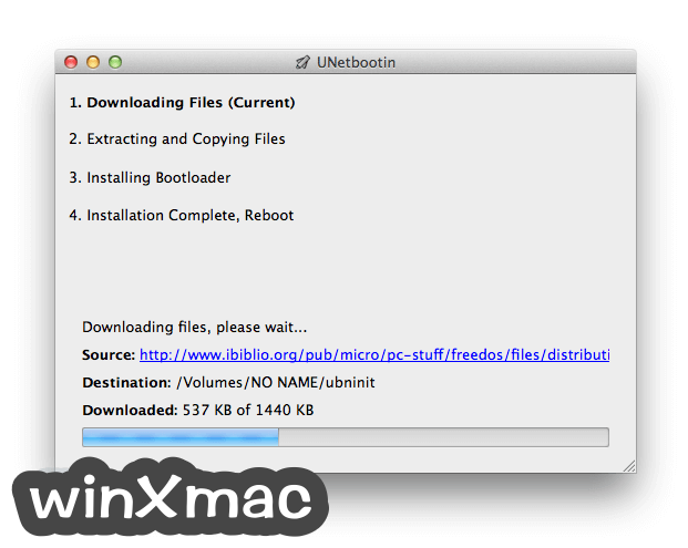 UNetbootin for Mac Screenshot 2