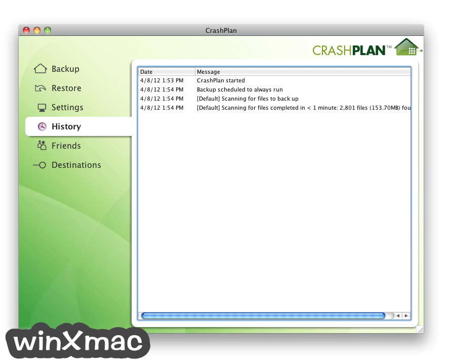CrashPlan for Mac Screenshot 3