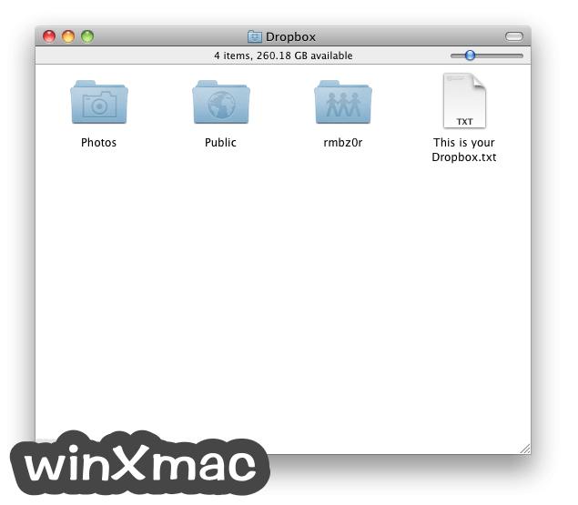 Dropbox for Mac Screenshot 1