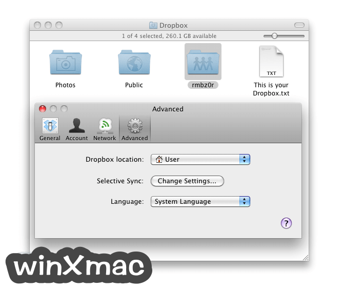 Dropbox for Mac Screenshot 4
