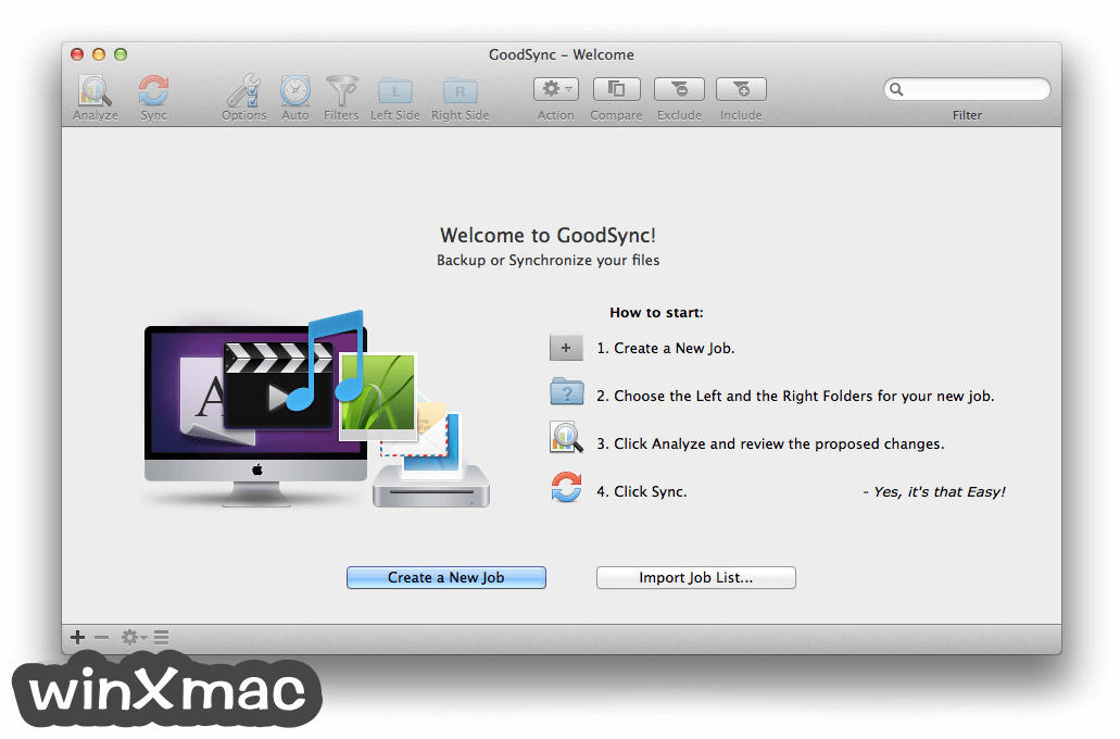 GoodSync for Mac Screenshot 1