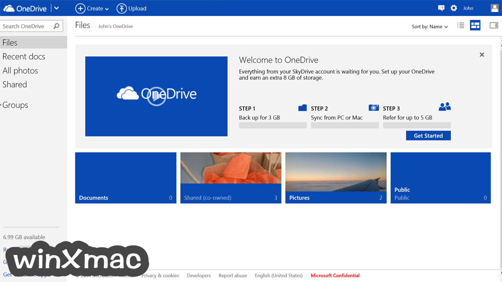 OneDrive for Mac Screenshot 1