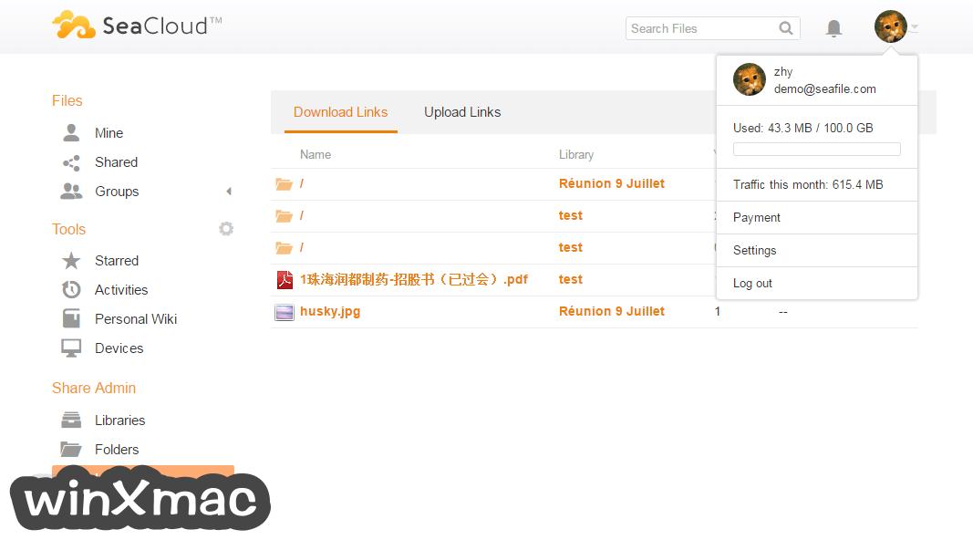 Seafile for Mac Screenshot 3