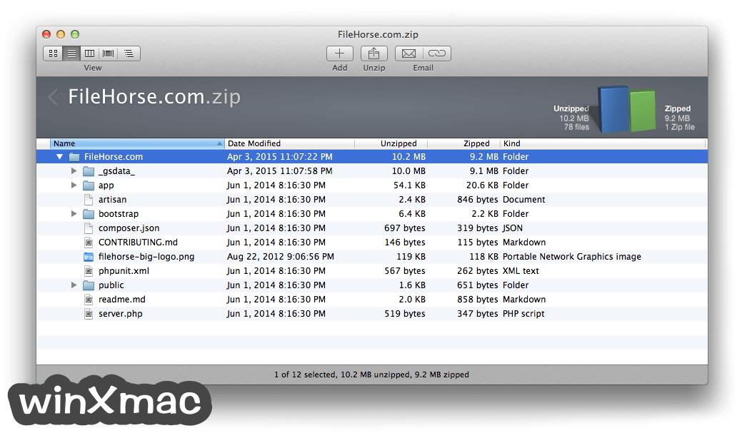 WinZip Mac Edition Screenshot 2