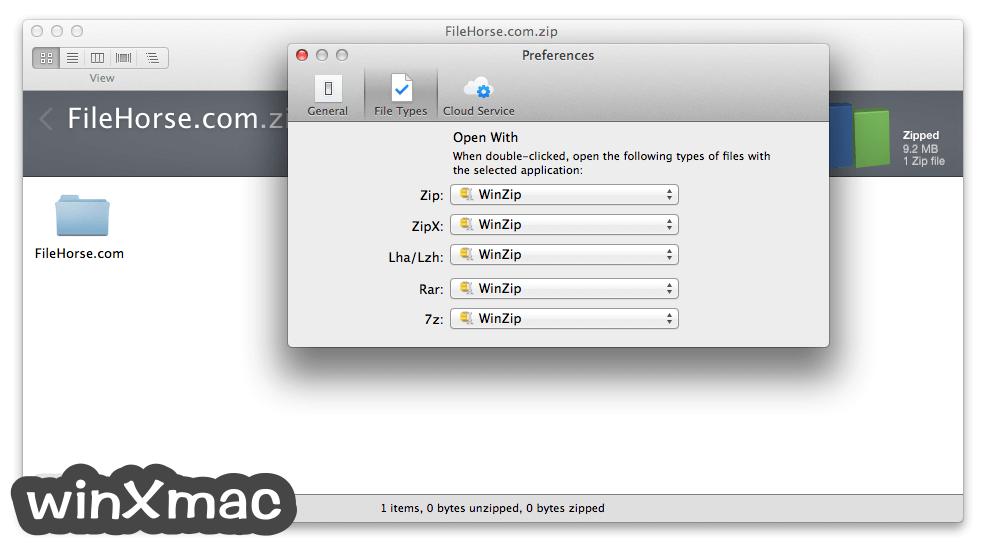 WinZip Mac Edition Screenshot 4