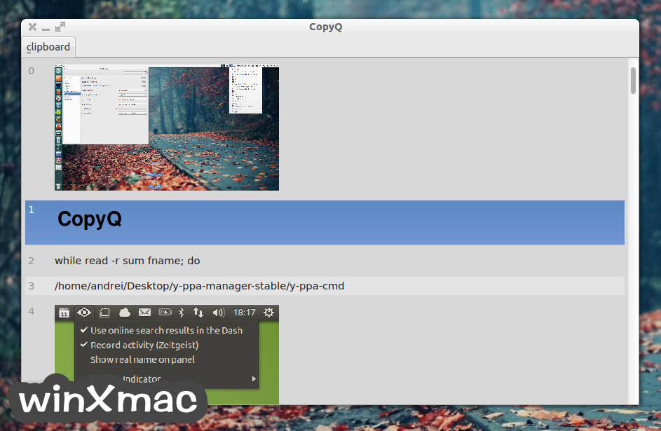 CopyQ for Mac Screenshot 1