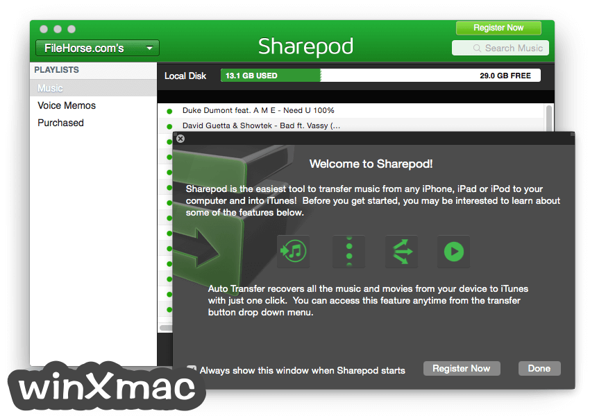 Sharepod for Mac Screenshot 1