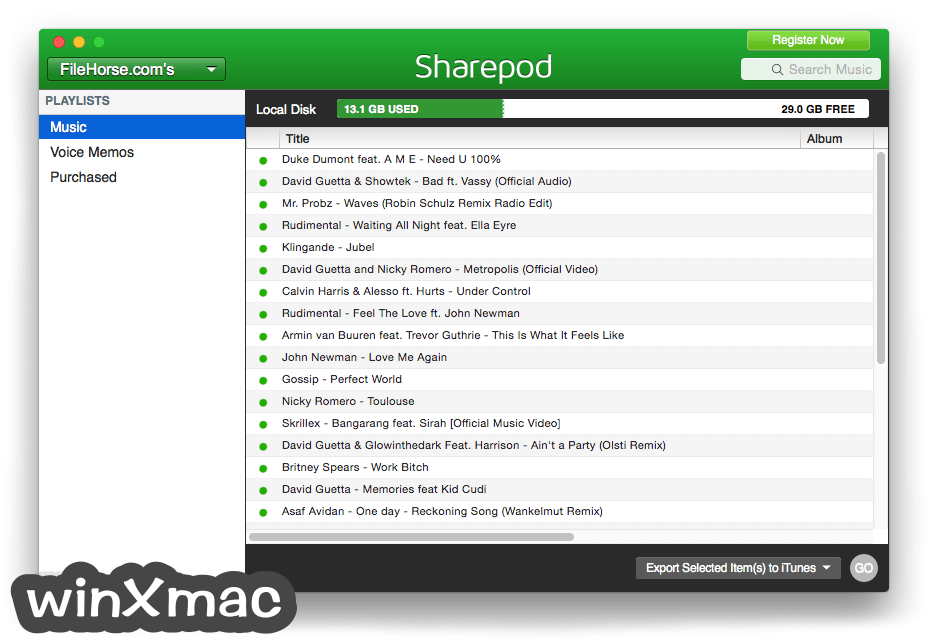 Sharepod for Mac Screenshot 2