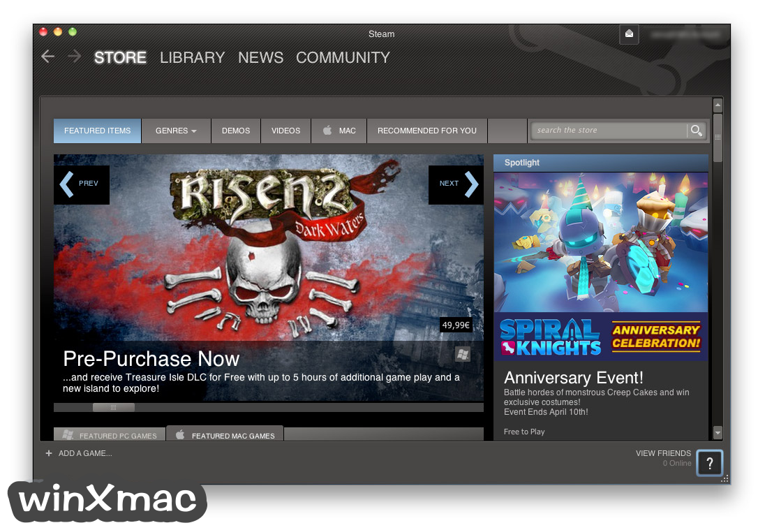 Steam for Mac Screenshot 1