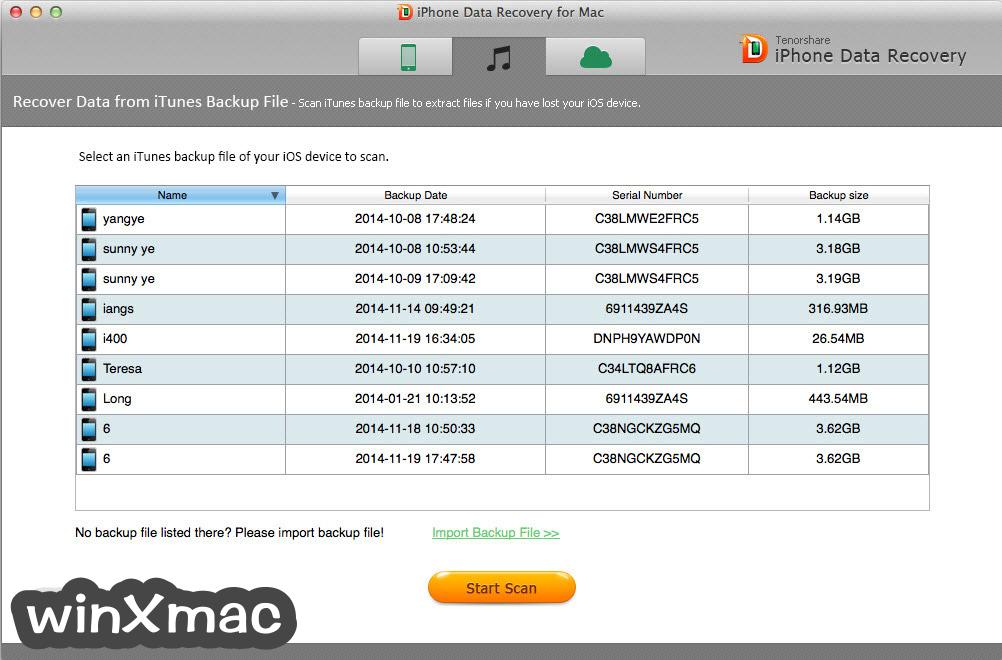 Tenorshare UltData for Mac Screenshot 3