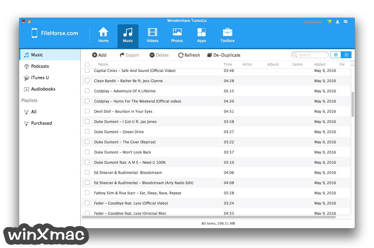 TunesGo for Mac Screenshot 2