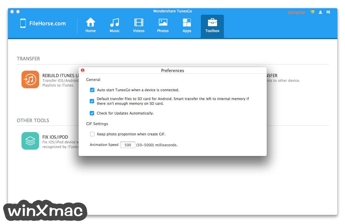 TunesGo for Mac Screenshot 5