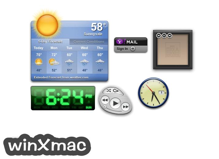 Yahoo Widgets for Mac Screenshot 1