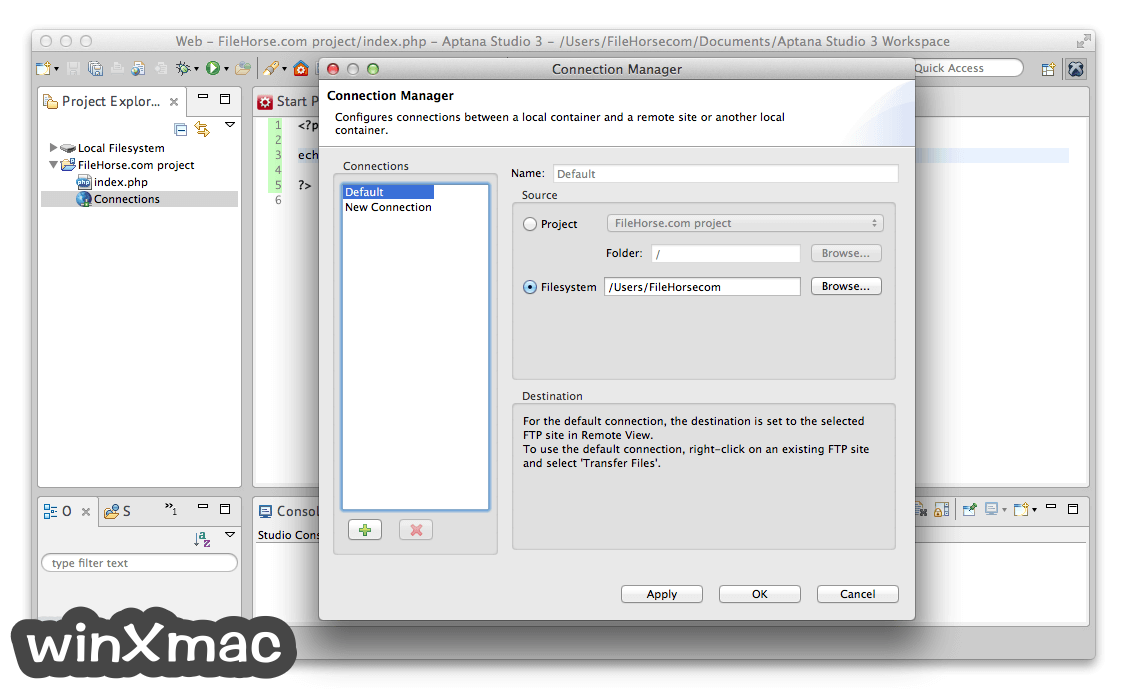 Aptana Studio for Mac Screenshot 3