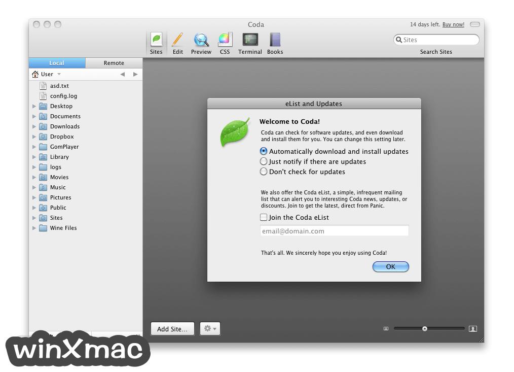 Coda for Mac Screenshot 1