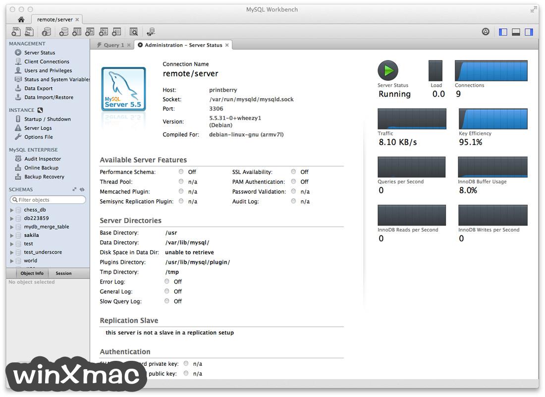 MySQL Workbench for Mac Screenshot 1