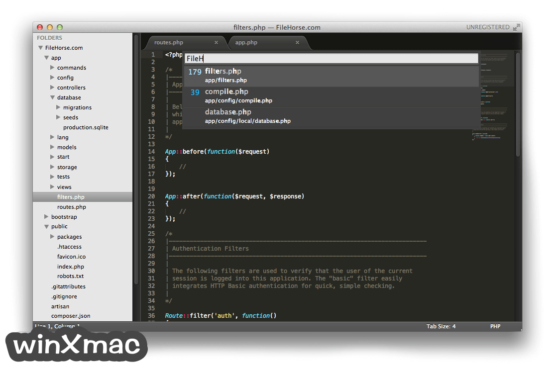 Sublime Text for Mac Screenshot 4