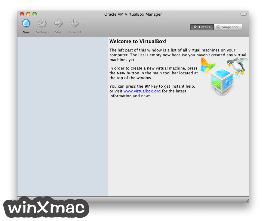 Oracle VM VirtualBox for Mac Screenshot 1